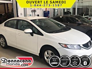 Used 2015 Honda Civic LX ***PNEUS HIVER***PRISE USB***CAMÉRA D for sale in Donnacona, QC