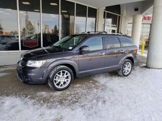 Used 2015 Dodge Journey RT; 7 PASS, DVD, NAV, BLUEOOTH, BACKUP CAM AND MORE for sale in Edmonton, AB