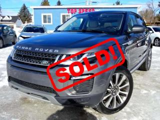Used 2016 Land Rover Evoque HSE Si4 Heads-up Display Line Departure Navi Roof Camera Certified for sale in Guelph, ON