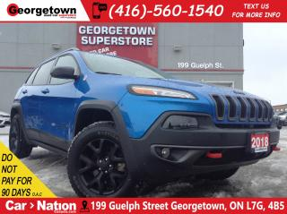 Used 2018 Jeep Cherokee Trailhawk | PANO ROOF | NAVI | CLEAN CARFAX | BLIS for sale in Georgetown, ON