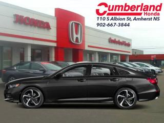 New 2019 Honda Accord Sedan Sport Manual  - Sunroof for sale in Amherst, NS
