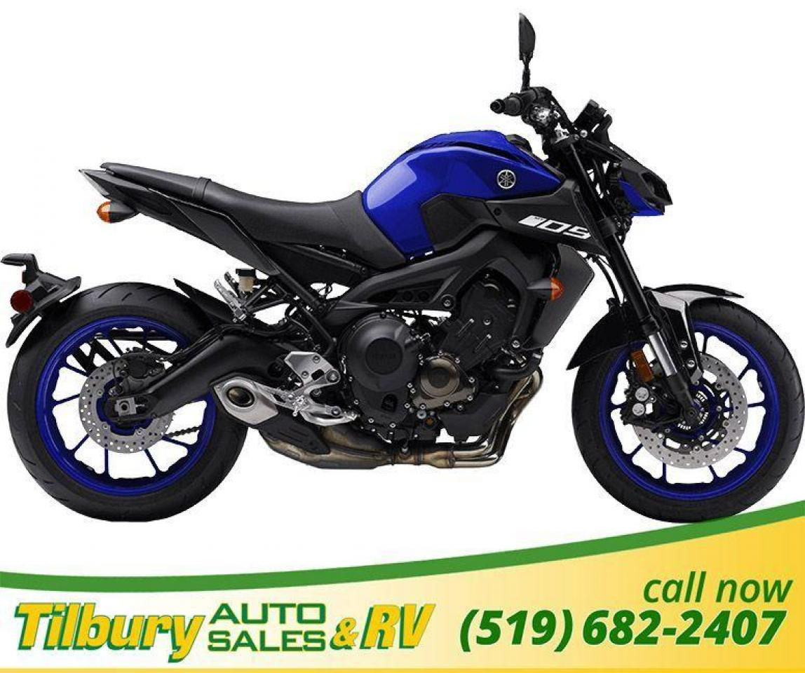 2019 Yamaha MT-09 Slim, compact, 847cc, 4- valve, liquid-cooled