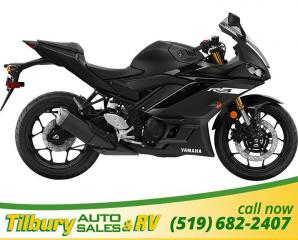 New 2019 Yamaha YZF-R3 320 cc, DOHC, parallel twin for sale in Tilbury, ON