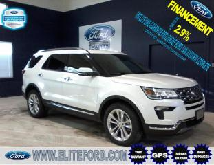 Used 2018 Ford Explorer LIMITED, AWD, CUIR, TOIT, GPS for sale in St-Jérôme, QC