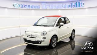 Used 2012 Fiat 500 C LOUNGE CONVERTIBLE + GARANTIE + CUIR ROU for sale in Drummondville, QC
