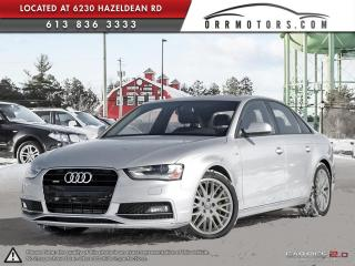 Used 2015 Audi A4 S-line trim for sale in Ottawa, ON
