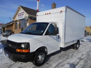 Used 2013 Chevrolet Express 3500 14Ft Aluminium Cube Van Loaded Certified ONLY 68Km for sale in Etobicoke, ON