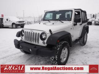 Used 2014 Jeep Wrangler Sport 2D Utility 4WD 3.6L for sale in Calgary, AB