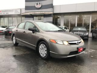 Used 2007 Honda Civic DX-G Power Group A/C Only 156Km NEW FRONT BRAKES for sale in Langley, BC