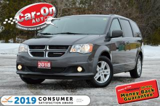 Used 2018 Dodge Grand Caravan Crew LEATHER REAR CAM HTD SEATS PWR DOORS LOADED for sale in Ottawa, ON