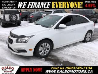 Used 2015 Chevrolet Cruze LT 1LT | Back up Cam | Blue Tooth for sale in Hamilton, ON