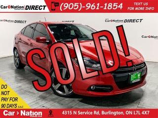 Used 2015 Dodge Dart GT| LEATHER| NAVI| BACK UP CAMERA| for sale in Burlington, ON