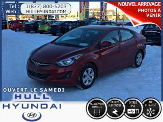 Used 2016 Hyundai Elantra L, Bas Kilos, Encore for sale in Gatineau, QC