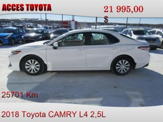 Used 2018 Toyota Camry for sale in Rouyn-Noranda, QC
