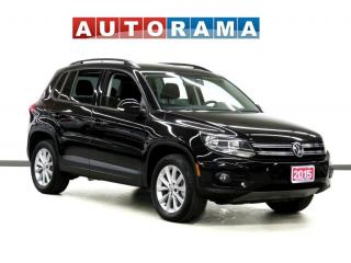 Used 2015 Volkswagen Tiguan HIGHLINE NAVIGATION LEATHER PAN SUNROOF AWD for sale in Toronto, ON