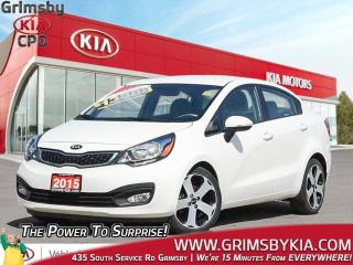 Used 2015 Kia Rio SX| Backup Cam| Heat Seat| Gas Saver| 1 Owner! for sale in Grimsby, ON