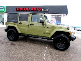 Used 2013 Jeep Wrangler Unlimited Sahara 4WD NAVIGATION LEATHER CERTIFIED 2YR WARRANTY for sale in Milton, ON