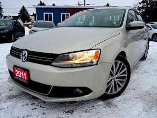 Used 2011 Volkswagen Jetta TDI HIGHLINE NAVIGATION SUNROOF CAMERA CERTIFIED for sale in Guelph, ON