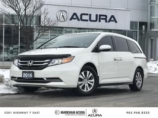 Used 2016 Honda Odyssey EX-L Res Moonroof, Parking Sensors, Blind Spot Cam for sale in Markham, ON