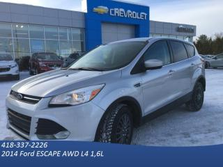 Used 2014 Ford Escape Se 4x4 -Ac - Gr for sale in St-Raymond, QC