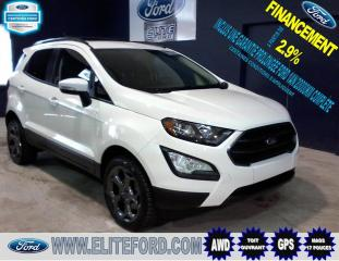 Used 2018 Ford EcoSport SES, AWD, TOIT, GPS, 8 PNEUS for sale in St-Jérôme, QC