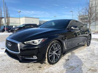 Used 2017 Infiniti Q60 CPO rates as low as 3.9%, 6YR/160,000 WARRANTY for sale in Edmonton, AB