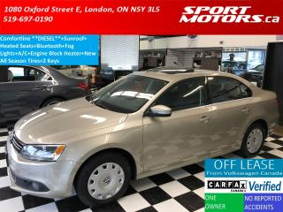 Used 2013 Volkswagen Jetta Comfortline TDI *DIESEL* Sunroof+Heated Seats+A/C for sale in London, ON
