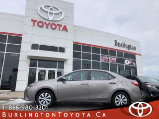 Used 2016 Toyota Corolla LE ONE OWNER for sale in Burlington, ON