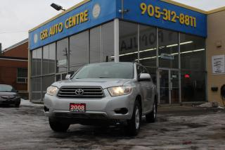 Used 2008 Toyota Highlander 4WD | 8 PASSENGER | ALLOYS | V6 | HEATED MIRRORS for sale in Hamilton, ON