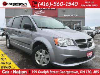 Used 2013 Dodge Grand Caravan SE | DUAL CLIMATE | ECO MODE | LOW KM | CRUISE for sale in Georgetown, ON