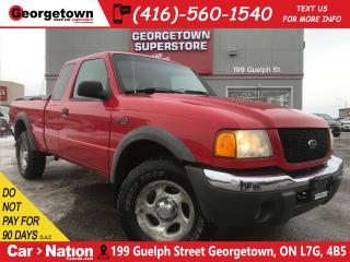 Used 2002 Ford Ranger XLT 4.0L | FOUR WHEEL DRIVE | POWER OPT|SUPER CAB for sale in Georgetown, ON