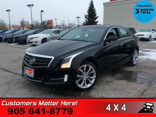 Used 2013 Cadillac ATS PERFORMANCE  V6 NAV CUE ROOF BOSE CAM HTD-S/W AWARENESS-PKG for sale in St. Catharines, ON