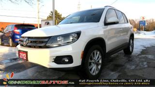 Used 2012 Volkswagen Tiguan Comfortline|LOW KM|LEATHER|PANO SUNROOF|AWD|BT for sale in Oakville, ON