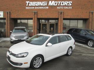 Used 2011 Volkswagen Golf Wagon TDI | HIGHLINE | NO ACCIDENT | LEATHER | SUNROOF | for sale in Mississauga, ON