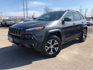 Used 2017 Jeep Cherokee Trailhawk 4x4 Leather Panorama Roof for sale in St Catharines, ON