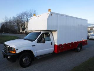Used 2001 Ford F-550 Regular Cab 2WD Dually Workshop Service Truck Cube Van with Power Generator for sale in Burnaby, BC