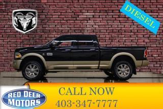 Used 2016 RAM 3500 4x4 Crew Cab Longhorn Diesel Aisin for sale in Red Deer, AB