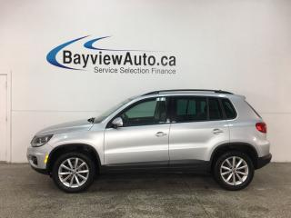 Used 2017 Volkswagen Tiguan Wolfsburg Edition - TSI! 4MOTION! HTD LTHR! APPLE CARPLAY! FULL PWR GROUP! for sale in Belleville, ON