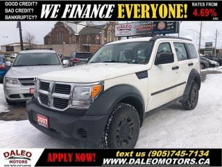 Used 2007 Dodge Nitro SXT   V6   4X4   ONLY 122KMS! for sale in Hamilton, ON