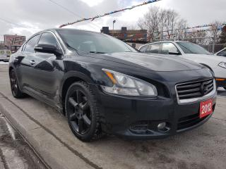 Used 2012 Nissan Maxima 3.5 SV-Leather-Back-up Cam-Sunroof-Alloys-Aux for sale in Scarborough, ON