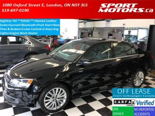 Used 2011 Volkswagen Jetta Highline TDI+HTD Leather+Sunroof+New Tires+Brakes for sale in London, ON