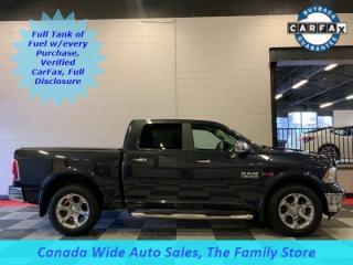 Used 2014 RAM 1500 4x4 Crew Laramie, Eco Diesel, Dual DVD, Navigation, Sunroof, Remote Start for sale in Edmonton, AB