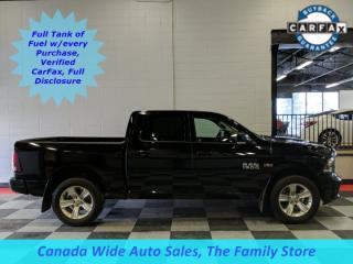 Used 2014 RAM 1500 4x4 Crew Cab Sport, Leather, Sunroof, Heated & Cooled Seats, Back Up Camera for sale in Edmonton, AB