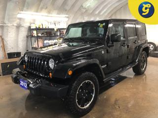Used 2012 Jeep Wrangler Unlimited * Sahara * 4WD * Altitude Black Leather * Heated front seats/ mirrors * Traction control * 6 Speed manual * Trac-Lok Limited Slip Rear Diffe for sale in Cambridge, ON