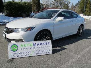 Used 2016 Honda Accord Coupe Touring V6 Coupe 6sp BCAA MBSHP FINANCING WARRANTY for sale in Surrey, BC