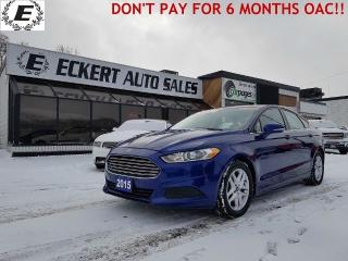 Used 2015 Ford Fusion SE  DON'T PAY FOR 6 MONTHS OAC!! for sale in Barrie, ON