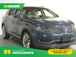 Used 2016 Lincoln MKX RESERVE AWD A/C CUIR for sale in St-Léonard, QC