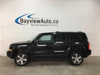 Used 2016 Jeep Patriot Sport/North - 4X4! HTD LTHR! SUNROOF! U-CONNECT! ALLOYS! for sale in Belleville, ON