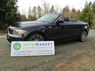 Used 2009 BMW 128I 128i CAB, AUTO, INSP, BCAA MBSHP, FREE WARR, FINANCE for sale in Surrey, BC