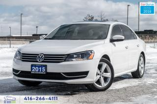 Used 2015 Volkswagen Passat 1 Owner Leather/Roof Certified Warranty VW Service for sale in Bolton, ON